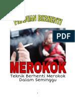 Panduan Berhenti Merokok