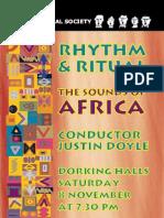 Zimbe! World Premier Programme Nov08 Dorking Choral Society