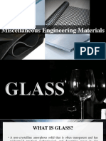 Miscellaneous Engineering Materials (Glass & Rubber)