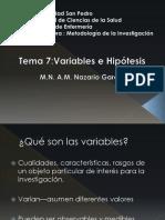 Tema 9 Variables, Hipótesis