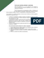 Casos Practicos de Control Interno y Auditoría