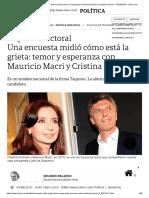 Una Encuesta Midió Cómo Está La Grieta_ Temor y Esperanza Con Mauricio Macri y Cristina Kirchner - 07-04-2019 - Clarín.com