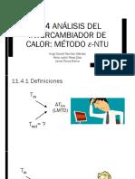 11.4 Analisis Del Intercambiador de Calor. El Método E-NUT