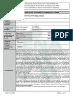 Infome Programa de for Titulada Sistemas Agro Ecologicos