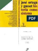 116081218 Ortega y Gasset Jose Historia Como Sistema Compressed