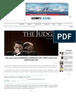 40 Cosas Que Debería Pensar Un Juez Antes de Sentenciar