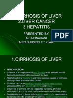 cirrhosis of liver ,liver cancer ,hepatitis.ppt