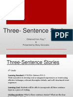 Three Sentence Stories
