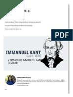 7 Frases de Immanuel Kant