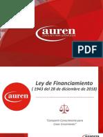 Presentacion Ley de Financiamiento