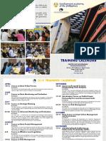 2019 CFG Training Calendar