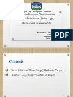 Current Water Supply Management YCDC (Yangon, Myanmar)
