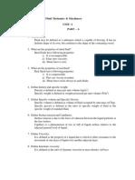 CE6451 Fluid Mechanics Question Bank