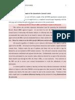 Outline for Quantitative Research Paper