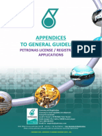 APPENDICES to General Guidelines - PETRONAS License & Registration Applications v8.0