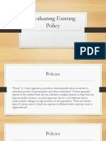 Evaluating Existing Policies (edited).ppt