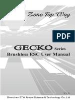 Manual Ztw Gecko-series Air Esc