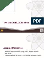 (19) Inverse Circular Functions