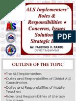 Duty of ALS MT