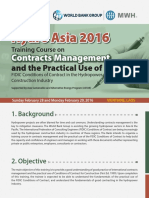 Contracts Management Workshop,PROGRAM Asia 2016