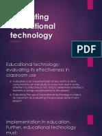 Evaluating Educational Technology