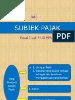 2. Subjek Pajak