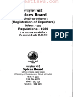 Spices Board (Registration of Exporters) Regulations,1989