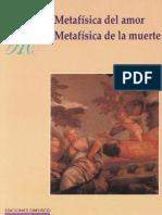Shopenhauer Metafisica Del Amor. Metafísica de la muerte