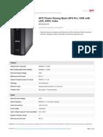 APC UPS Pro 1000 Specification
