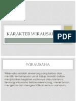 KARAKTER WIRAUSAHA