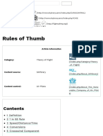 Rules of Thumb - SKYbrary Aviation Safety