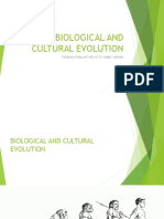 Biological and Cultural Evolution
