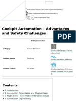 Cockpit Automation - Advantages and Safety Challenges - SKYbrary Aviation Safety