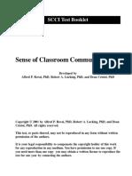 Sense of Classroom Community Index