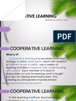 Cooperative Learning And