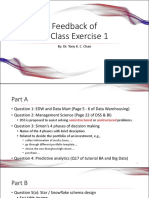 Feedback of in-Class Exercise 1