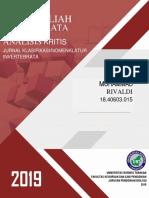 Invertebrata Analisis Mata Kuliah