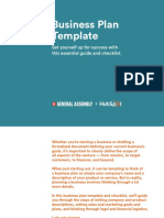 Business Plan Template - HubSpot General Assembly
