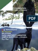 Radio Amateur Examination Q001-Q200