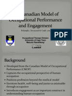 Canadian Model of Occupational Performances and Engagement