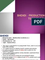 Bhendi – Production Technology