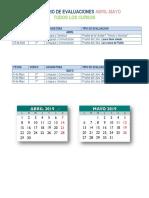 Calendario de Evaluaciones (Todos Los Cursos)-2019