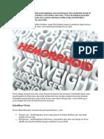 tanda dan gejala Hemoroid