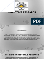 Presentation of Deductive Research