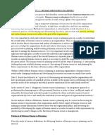 HR Planning & Procurement UNIT 1
