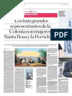 Los Más Grandes Representantes de La Colonia Son Mujeres Santa Rosa y La Perricholi