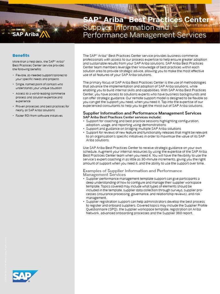 Sap Ariba Sipm | Expert | Business Process