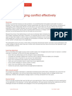 Managing Conflict Effectively