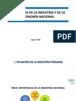 PANORAMA DE LA INDUSTRIA Y DE LA ECONOMÍA NACIONAL