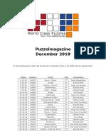 WCPN Puzzelmagazine December 2018